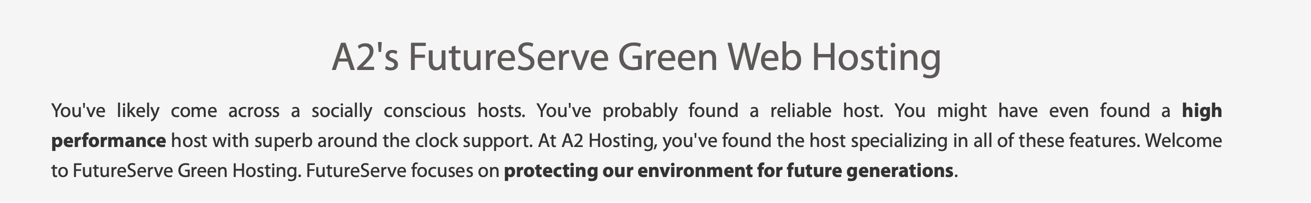 A2 Hosting Green Web